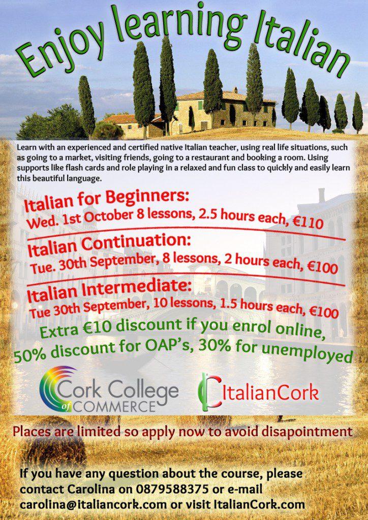 Italian lessons in Cork